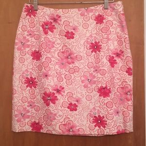 Ann Taylor floral print skirt
